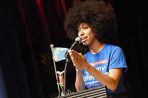 Activist and speaker Mariah Parker.