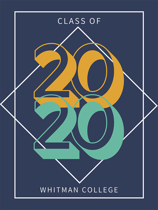 The Class of 2020 banner, designed by Eliza Wyckoff