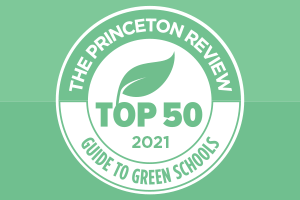 Princeton Review Top 50 Green Colleges Logo