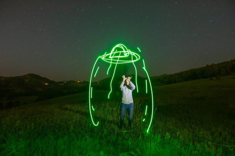 Laura Krantz with UFO