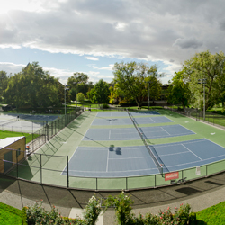 Tennis courts post-renovation