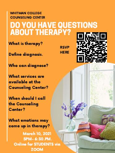 Counseling Center Information Session Event Poster