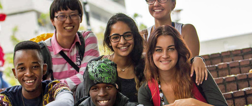 Group of Students Studying Abroad