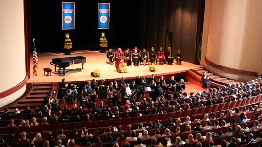 Convocation in Cordiner Hall