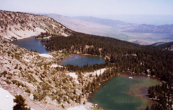 Cirque containing Independence Lakes