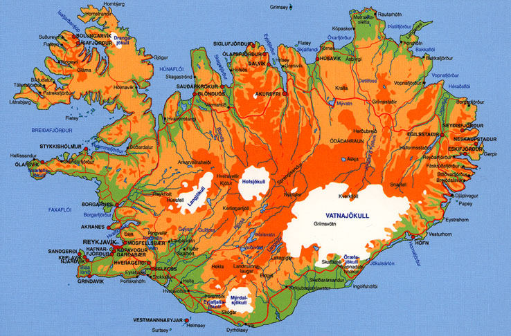 map - iceland