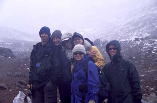 group at 16,000 feet