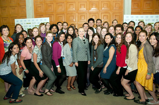 secretary of state clinton and group