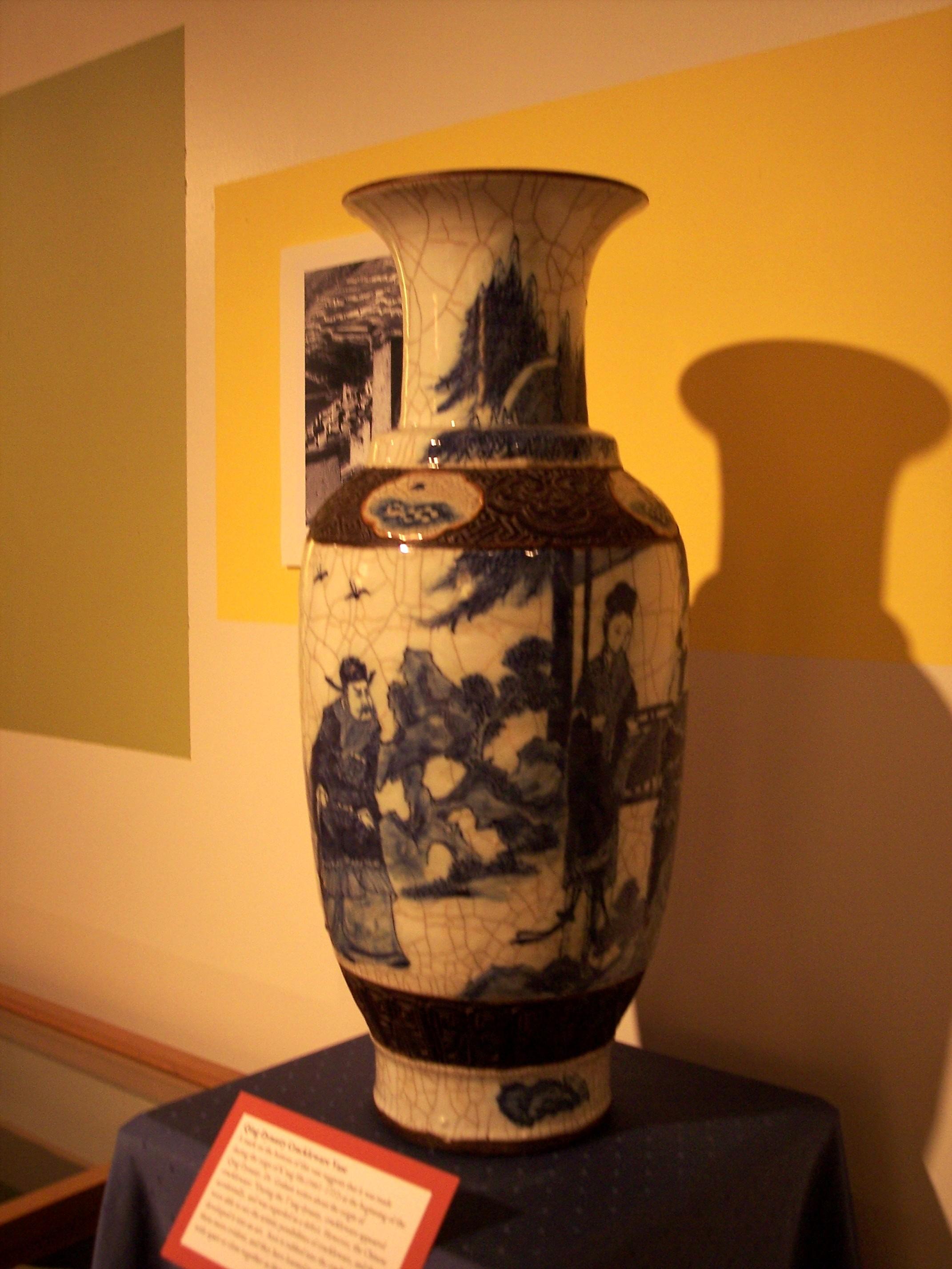 Crackelware Vase