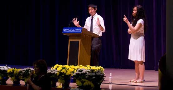 Justin Hayashi and Aisha Fukushima