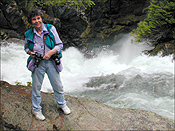 Mary Willis Randlett, Photo by Jay Bender, White River Falls,  May 2000