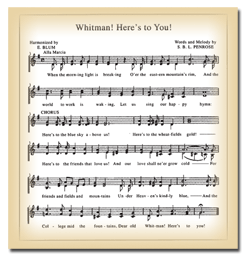Whitman Hymn Sheet Music