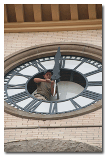 Memorial Hall receiving a new clock