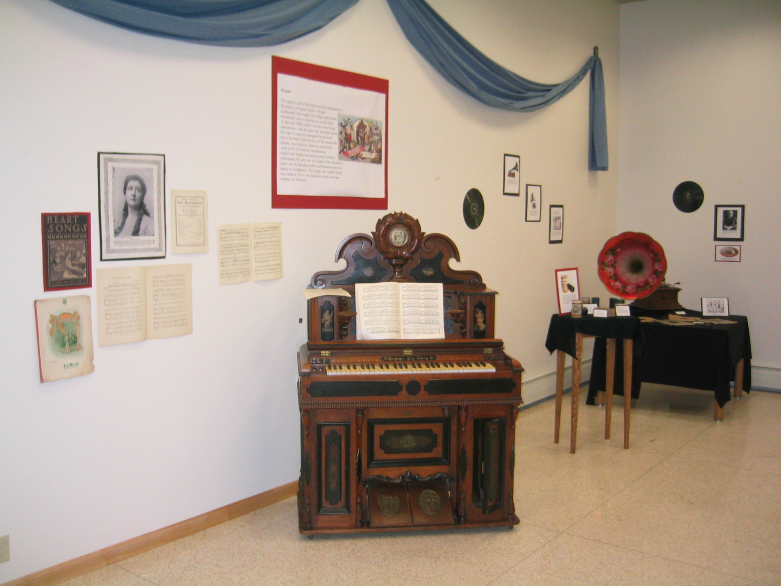 One of the first organs west of the Mississippi and an early, working Victrola.