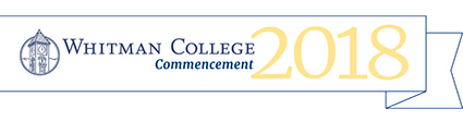 Whitman College Commencement 2018 banner graphic