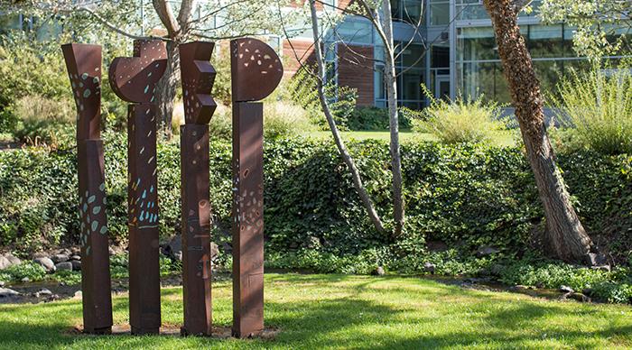 Sculpture on Whitman Campus