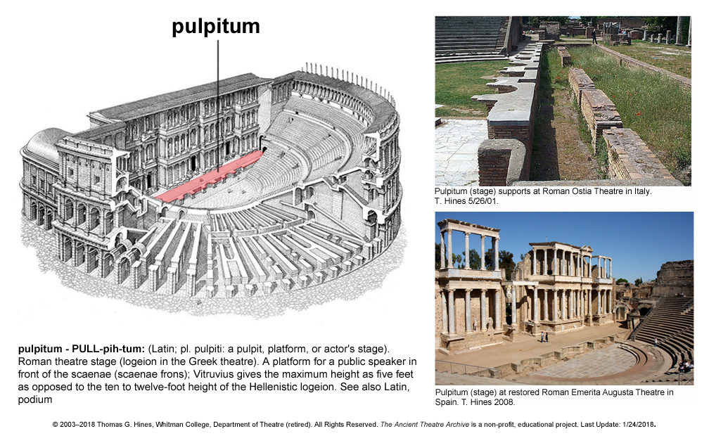 Latin Sing Scaena Theatre Scene Or Stage House From The Ancient Greek Skene In Roman Usually Referring To Building