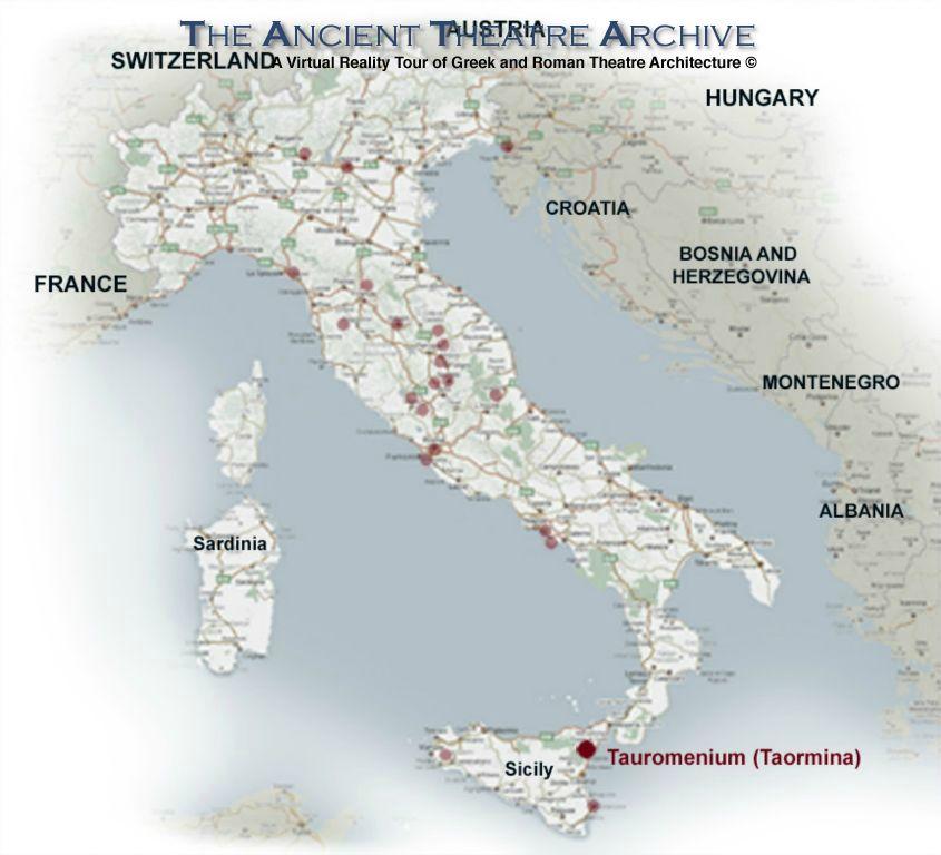 Tauromenium Taormina Theatre Italy